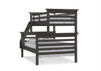 Twin Full bunk weathered grey angle