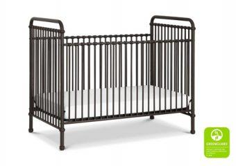 Abigail Crib in Vintage Iron Angle