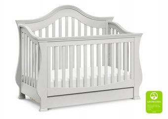 Ashbury Crib in Cloud Grey 1