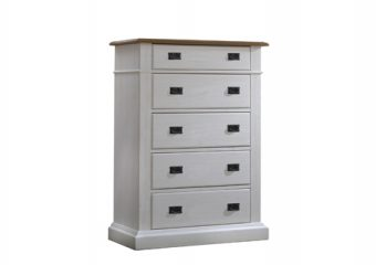 Cortina 5 Drawer Dresser White Chalet