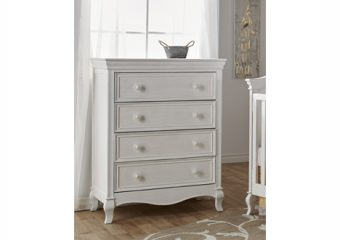 Diamante 4 drawer chest vinage white2