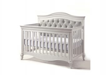 Diamante forever crib vintage white2