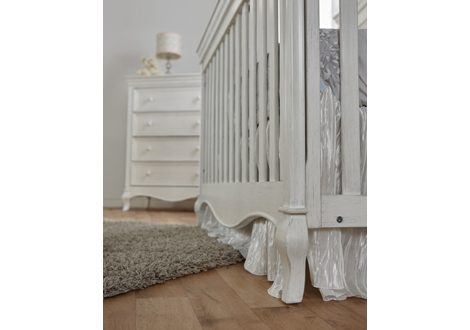 Diamante Forever Crib Grey Vinyl By Pali Furniture
