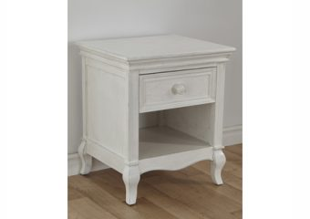 Diamante nightstand vintage white