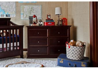 Foothill 6 drawer dresser espresso