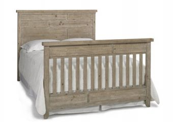 GRADO CRIB IN SANDY PINE CONVERTED TO BED