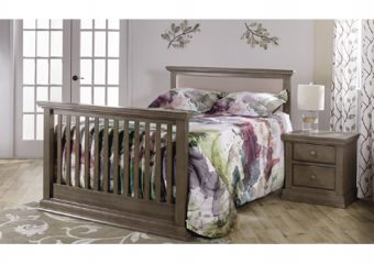 Modena upholstered convertible crib distressed desert1