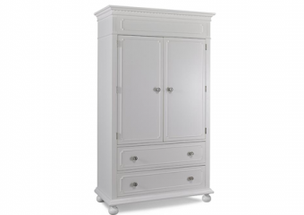NAPLES ARMOIRE IN SNOW WHITE