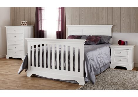 Ragusa and Enna Conversion Kit Bed Rails in Vintage White