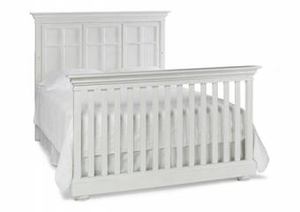 SERENA Seashell White Crib Converted to Full Bed