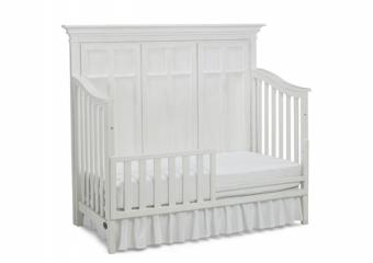 SERENA Seashell White Crib with Toddler Rail