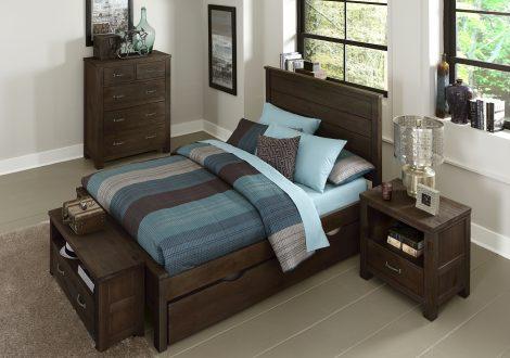 Highlands Alex Full Panel Bed