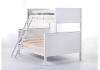 Casey Bunk Bed Twin over Full White