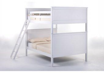casey bunkbed full over full white