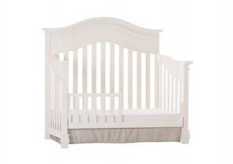 Cheyenne Crib w Toddler Rail Distressed White