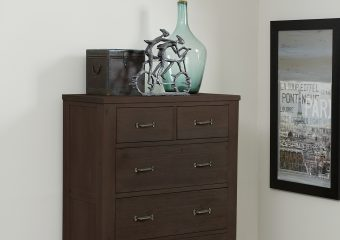 HIghlands 5 Drawer Chest Espresso
