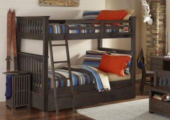 Harper Bunk Bed Full over Full w Trundle Espresso (2)