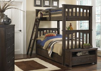 Harper Bunk Bed Twin over Twin w Trundle Espresso