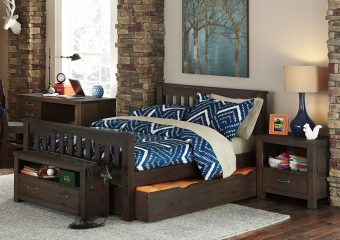 Harper Full Bed w Trundle Espresso