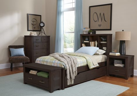 Highlands Bookcase Twin Bed