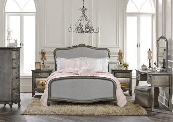 Katherine Full Bed Antique Silver