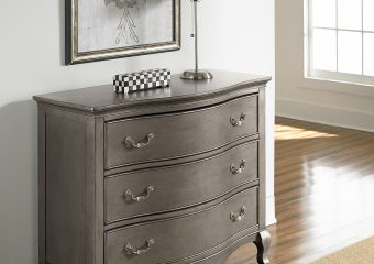 Kensington 3 Drawer Single Dresser Antique Silver