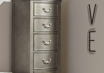 Kensington 5 Drawer Tall Chest Antique Silver