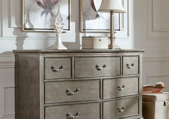 Kensington 7 Drawer Dresser Antique Silver