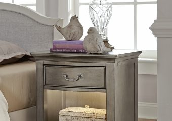 Kensington Nightstand Antique Silver