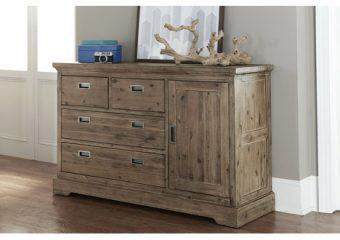 Oxford 4 Drawer Dresser w Door Cocoa