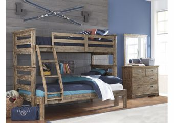 Oxford Oliver Bunkbed Twin over Full Cocoa