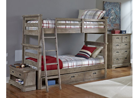 Oxford Oliver Twin Over Twin Bunk Bed By Ne Kids
