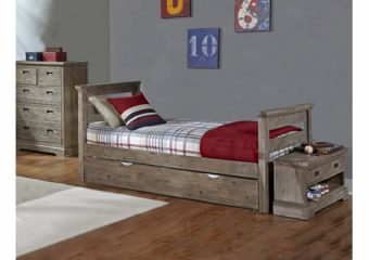 Oxford Oliver Twin Bed w Trundle Cocoa