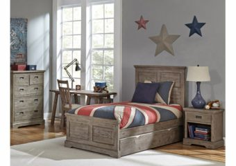 Oxford William Twin Bed w Trundle