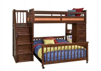 Stair Loft Twin Over Full Bed Cherry