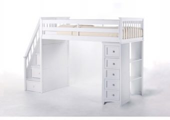 Stairloft Twin w Stair Unit White 2