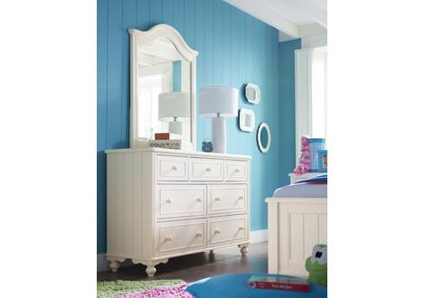Summerset Dresser In Ivory; Summerset Dresser And Mirror In Ivory Room ...