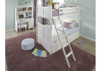 Taylor Bunkbed Twin over Twin White Roomshot