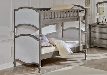Victoria Binkbed Twin over Twin Antique Silver