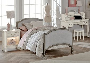 Victoria Twin Bed Antique Silver
