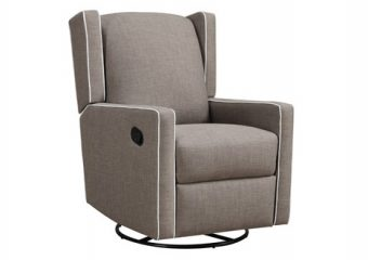 Eversion Swivel Reclining Glider Taupe
