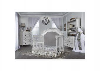 Julienne Crib w Toddler Rail Antique Mist Roomshot