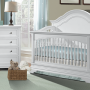Athena Room View Crib Dresser Chest in Belgium Cream