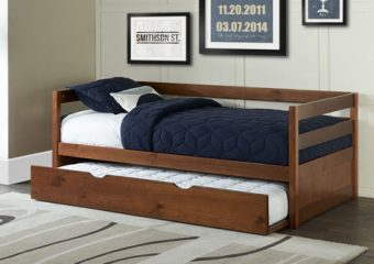 Caspian Daybed with Trundle in a Box (Trundle Out) - Walnut