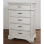 Kerrigan 5 Drawer Chest in Rustic White