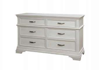 Kerrigan 6 Drawer Dresser in Rustic White