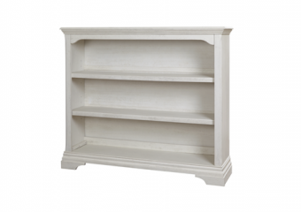 Kerrigan Bookcase-Hutch in Rustic White