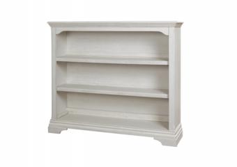 Kerrigan Bookcase-Hutch in Rustic White