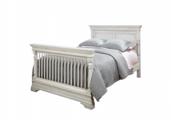 Kerrigan Full Size Bed Conversion Kit in Rustic White