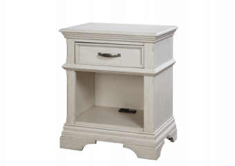 Kerrigan Night Stand in Rustic White